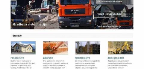 Spletna stran www.gradbenistvo-bobnar.si