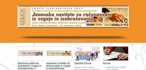 Spletna stran www.educa-izobrazevanje.si
