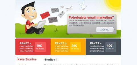 Spletna stran www.email-prodaja.si
