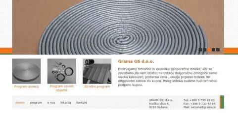 Spletna stran www.grama-gs.si