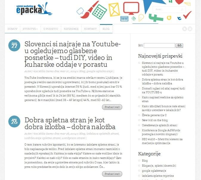 Blog - Epacka spletni marketing